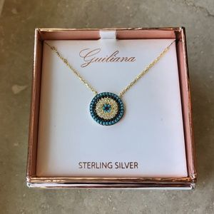 Guiliana - Sterling Silver Patterned Circle